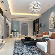 别墅型优美的简欧风格客厅装修效果图