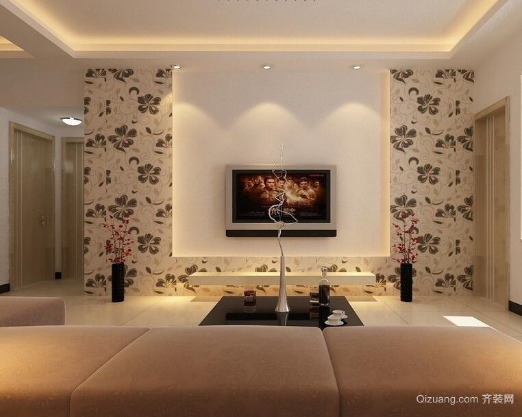 大户型欧式风格电视背景墙装修效果图片