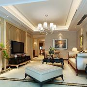 别墅型精致的欧式客厅装修效果图鉴赏
