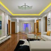 三居室欧式风格客厅装修效果图实例