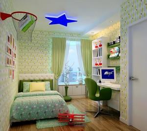 别墅型欧式儿童房背景墙装修效果图实例