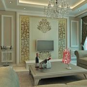 大户型欧式风格电视墙背景装修效果图