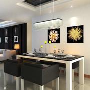别墅型精致的现代简约餐厅装修效果图