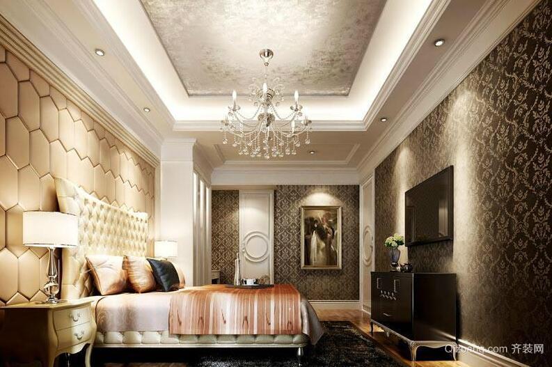 大户型欧式卧室软包背景墙装修效果图鉴赏