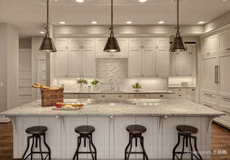欧式风格大户型开放式厨房装修效果图鉴赏
