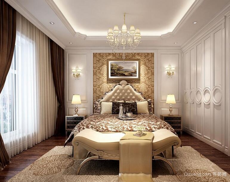 大户型简欧风格卧室背景墙装修效果图