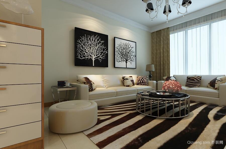 2016大户型现代欧式风格客厅装修效果图欣赏