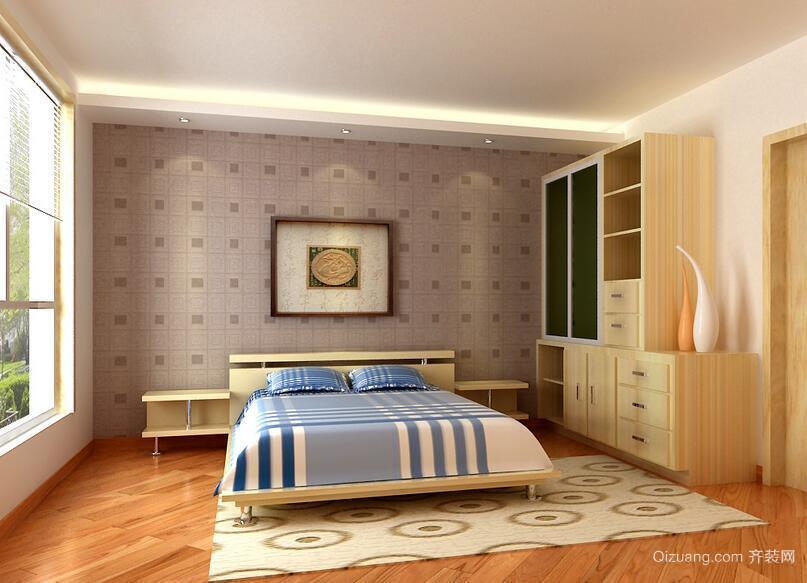 别墅型简欧风格卧室设计装修效果图实例