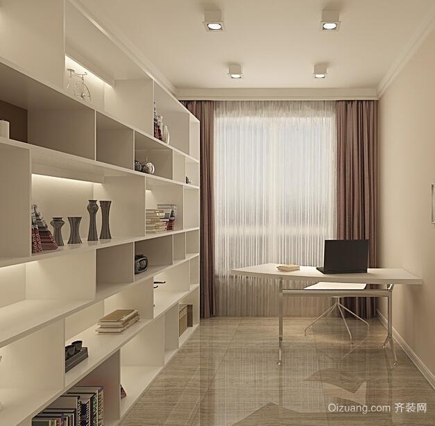 简欧风格大户型书房装修效果图实例