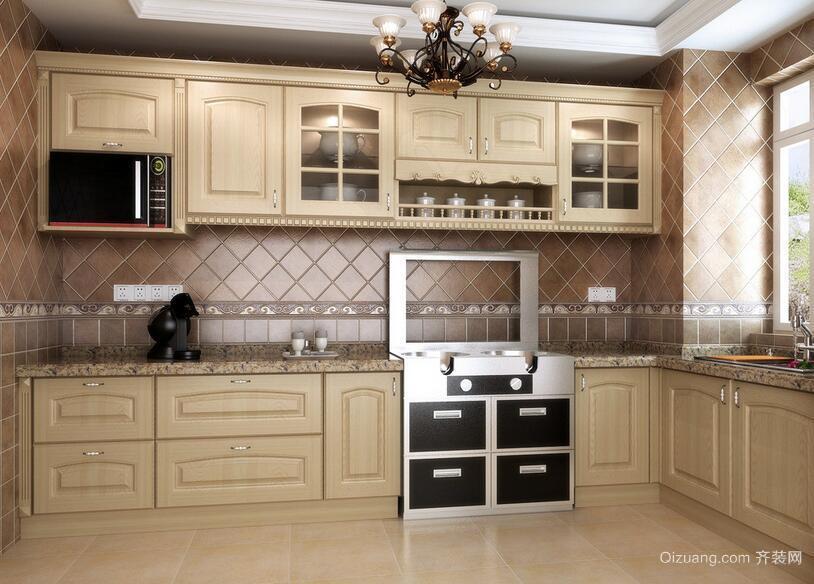 别墅型欧式风格厨房橱柜装修效果图