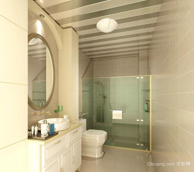 小户型欧式风格唯美卫生间装修效果图实例