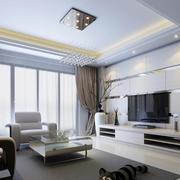 欧式风格大户型精致电视墙背景装修效果图