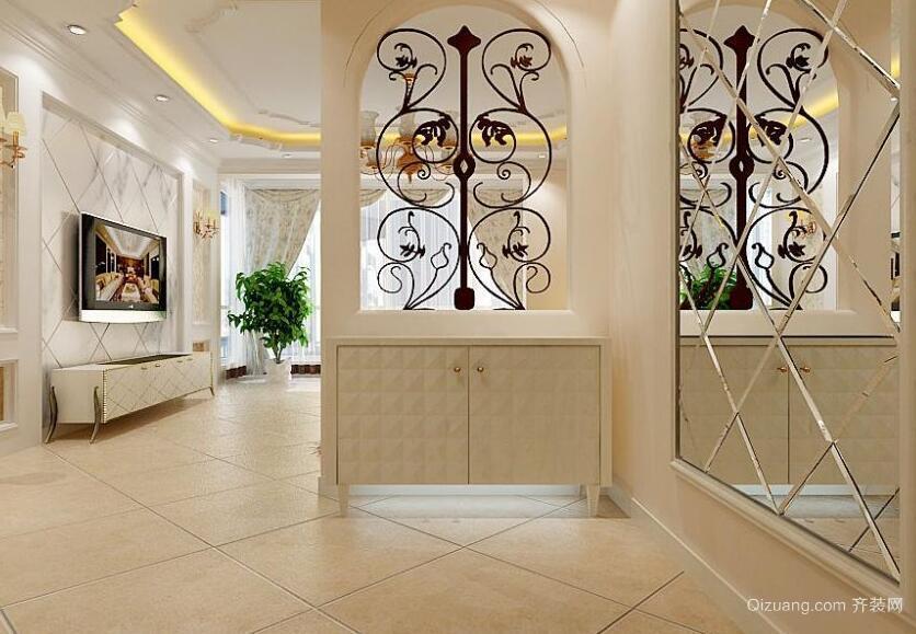 欧式风格大户型室内玄关隔断装修效果图
