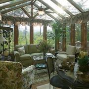 欧式风格别墅型阳光房吊顶装修效果图