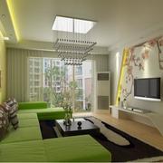 100平米欧式风格房屋客厅背景墙装修效果图