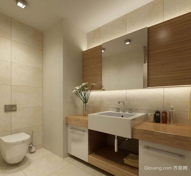 2016欧式风格别墅型洗手间装修效果图