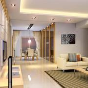 小户型精致欧式风格家庭客厅装修效果图