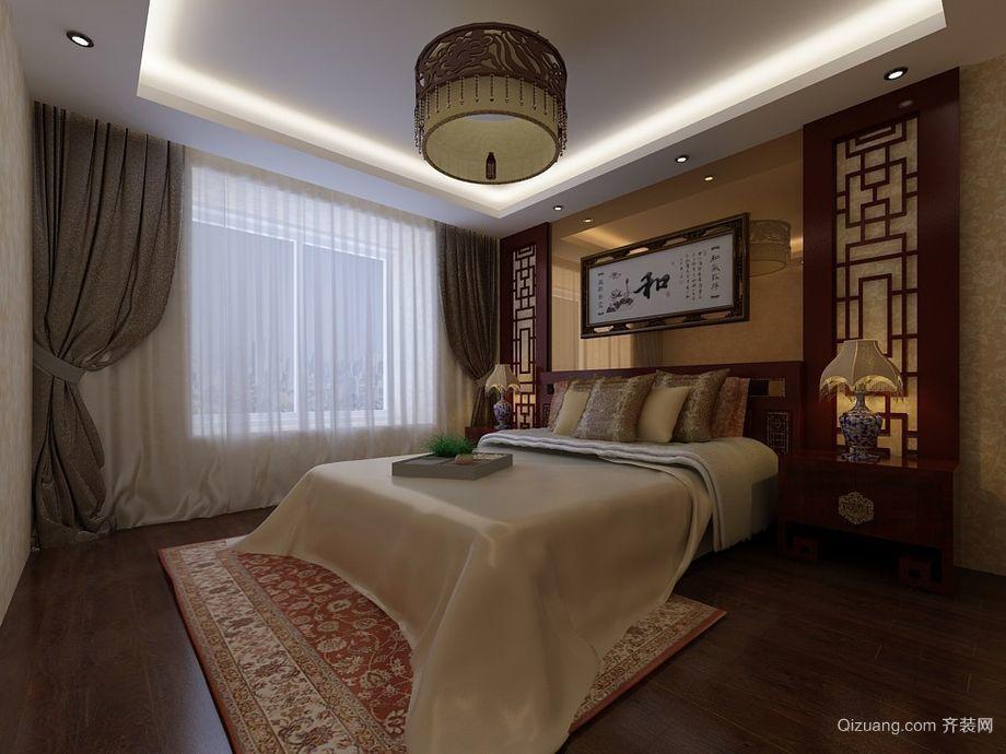 别墅型古典风格卧室背景墙装修效果图实例