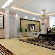 欧式风格小户型客厅背景墙装修效果图鉴赏