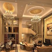 大户型欧式风格客厅吊顶装修效果图鉴赏
