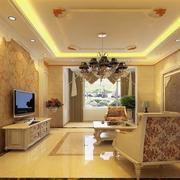 大户型唯美的简欧风格客厅装修效果图