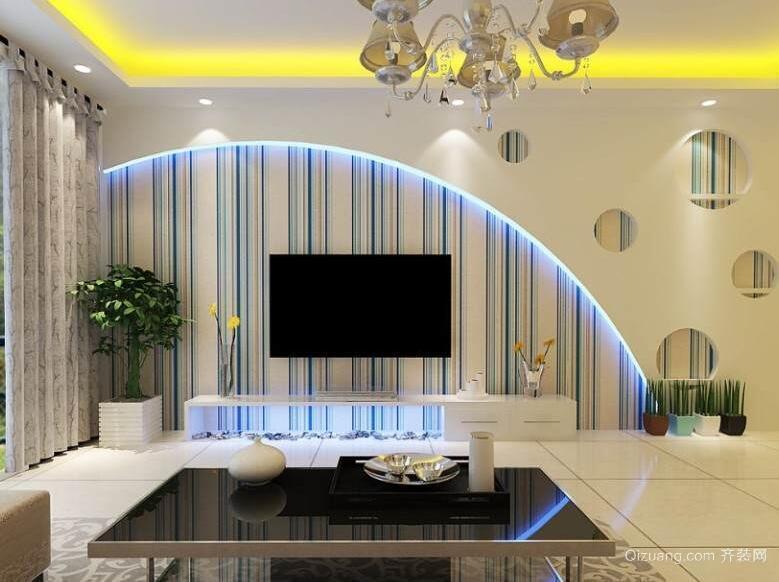 大户型欧式风格电视背景墙装修效果图鉴赏