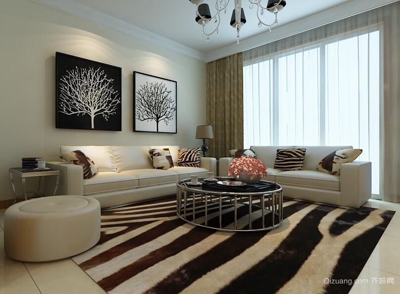 三居室唯美的欧式客厅装修效果图欣赏