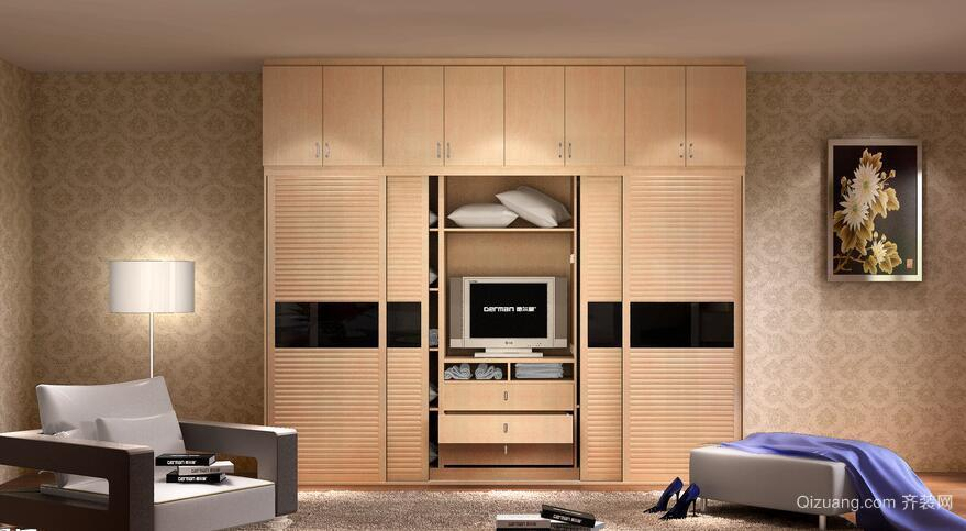 三居室欧式风格室内衣柜装修效果图实例