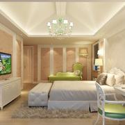 欧式大户型卧室吊顶装修效果图实例