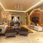 别墅型唯美的欧式客厅装修效果图鉴赏