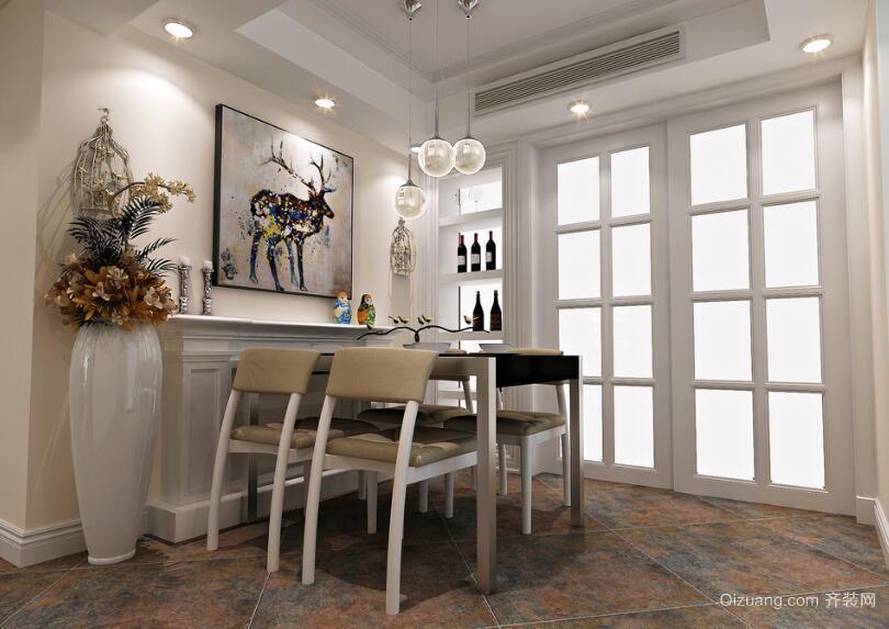 现代室内欧式房屋餐厅装修效果图实例