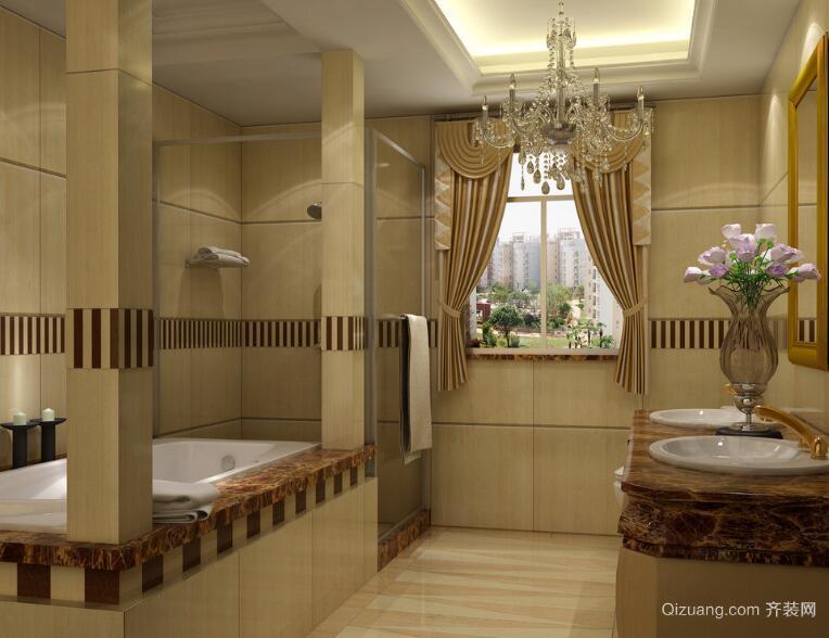 别墅型欧式风格卫生间装修效果图实例