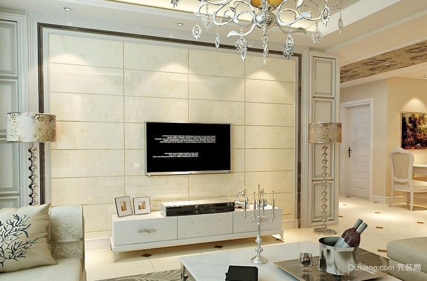 2016别墅型欧式风格电视墙背景效果图鉴赏