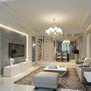 别墅型精美的现代简约客厅装修效果图