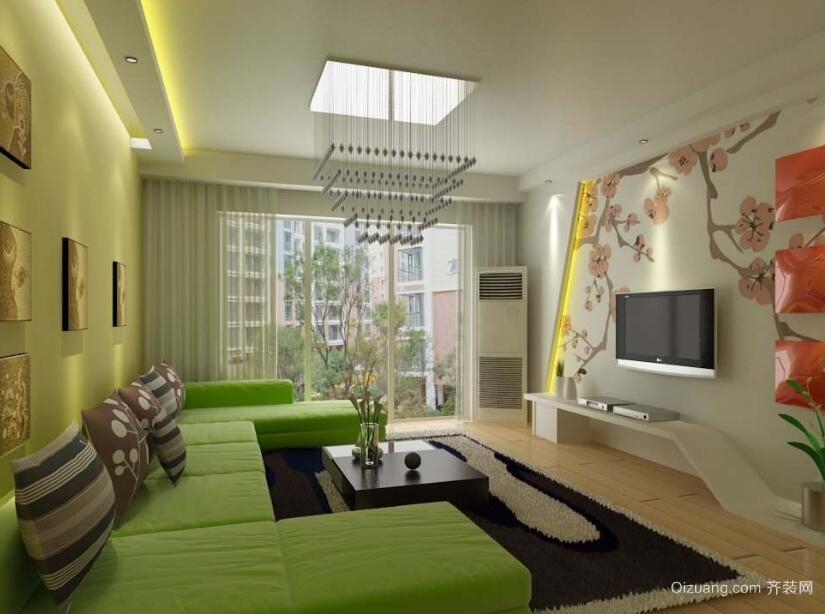 欧式风格小户型客厅装修装修效果图实例