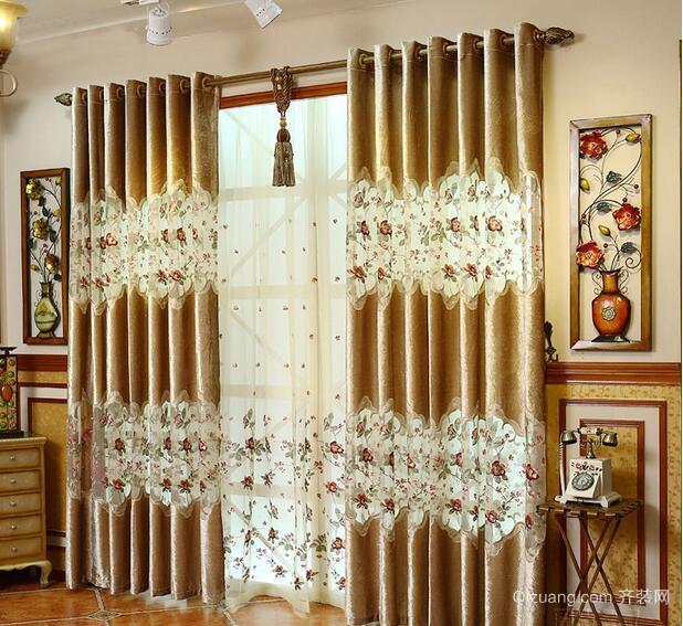 别墅型欧式风格室内窗帘装修效果图实例