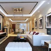 欧式风格别墅型唯美的客厅吊顶装修效果图