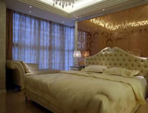 简欧风格卧室背景墙装修效果图实例