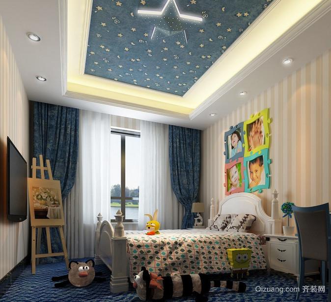 大户型简欧风格儿童房装修效果图实例