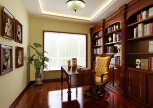 现代大户型简欧风格书房装修效果图鉴赏