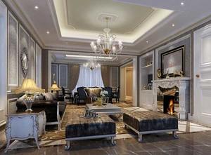 别墅型北欧风格客厅装修效果图实例