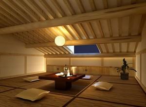 日式风格大户型精致的榻榻米装修效果图