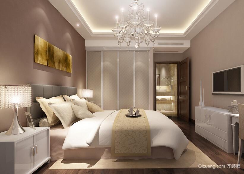 2016小户型简欧风格卧室装修效果图实例