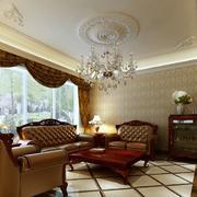 精致大方的欧式大户型室内吊顶装修效果图