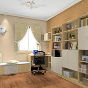 大户型现代都市家庭书房装修效果图实例