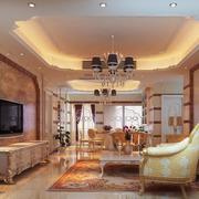 2016欧式风格大户型客厅装修效果图鉴赏
