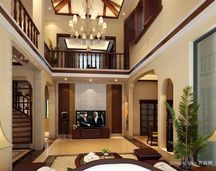 现代欧式风格别墅吊顶装修效果图
