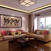 精致唯美大户型中式客厅装修效果图鉴赏