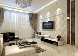 110平米极致欧式客厅电视背景墙装修效果图