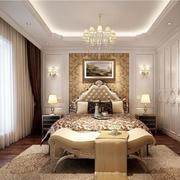 现代别墅型简欧风格卧室设计装修效果图